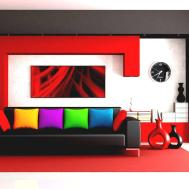 Modern Living Room Red Sofa Ideas