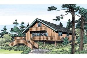 Modern Rustic Homes Big River Vacation Home Plan