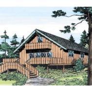 Modern Rustic Homes Big River Vacation Home Plan