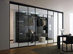 Modern Wardrobe Design Mirrored Sliding Door Using