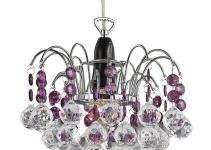Modern Waterfall Pendant Light Shade Clear Purple