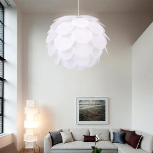 Modern White Funky Retro Style Artichoke Ceiling Pendant