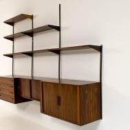 Modern Wood Wall Mounted Shelving Unit Cabinet Design