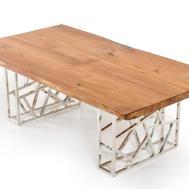 Modrest Acorn Modern Live Edge Wood Coffee Table