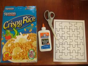 Mommy Project Diy Recycled Cereal Box Puzzle