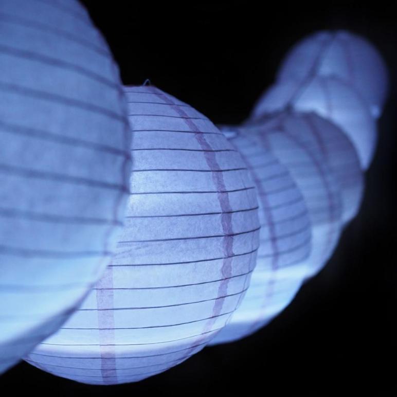 Moonbright Pink Paper Lantern Budget Friendly Led
