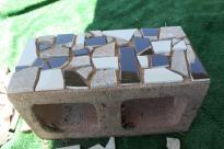 Mosaic Cinder Block Planter Part One Delicate Construction