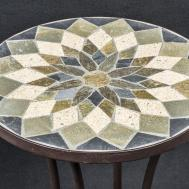 Mosaic Design Metallic Plant Stand Ova001