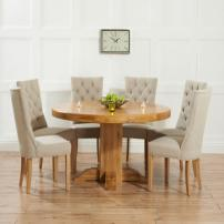Most Beautiful Round Oak Dining Table Residence