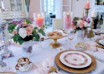 Mother Day Decoration Ideas Vintage Brunch Table Setting