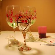 Mother Day Gift Fall Wine Glass Decor Gifts