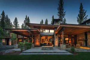 Mountain Modern Home Martis Camp Indoor Outdoor Living