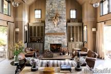 Mountain Retreat Living Room House Beautiful