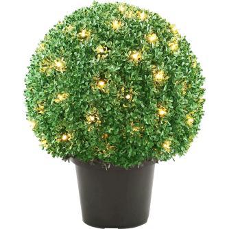 National Tree Pre Lit Mini Boxwood Ball Topiary Pot