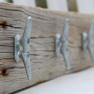 Nautical Coat Rack Boat Cleats Made Reclaimed Wood