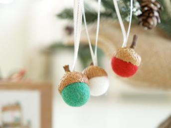 Needle Felting Kit Beginner Felted Acorn Ornament Wool