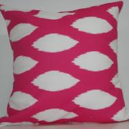 New Inch Designer Handmade Pillow Cases Pink Ikat