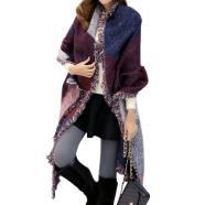 New Large Lady Women Winter Autumn Cashmere Warm Tassels