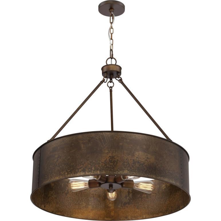 Nuvo Lighting Kettle Weathered Brass Oversized Three Light
