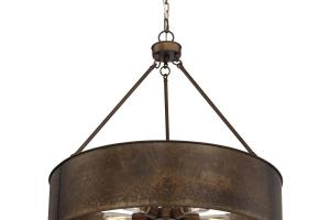 Nuvo Lighting Kettle Weathered Brass Oversized Three Light