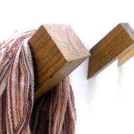 Oak Wall Hook Wooden Coat Rack Modern