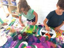 Oil Pastel Resist Watercolor Paint Pumpkins Homegrown