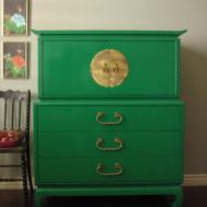 Old Green Diy Dresser Side Classic Chair Cute