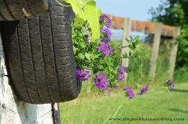 Old Tires Upcycled Tire Planters Diy Trash