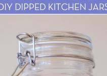 Organize Your Kitchen Diy Dipped Jars Curbly
