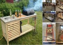 Outdoor Kitchen Cart Diy Portable Modular