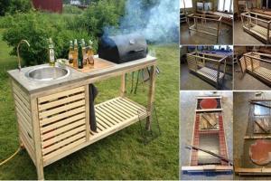 Outdoor Kitchen Cart Diy Portable Modular