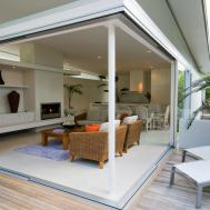 Outdoor Living Room Pergola Black Anad Grey Accents Brown