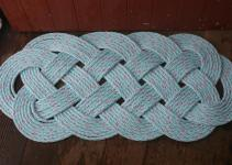 Outdoor Rope Rug Doormat Blue