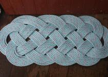 Outdoor Rope Rug Doormat Blue