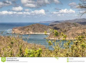 Over Bay San Juan Del Sur Nicaragua Stock