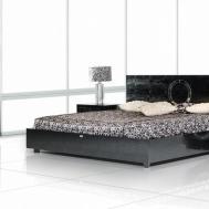 Ovidius Modern Black Crocodile Bed Bedroom