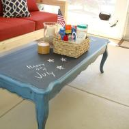Painted Coffee Tables Change Appearance