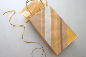 Painted Diy Gift Bags Metallic Flair