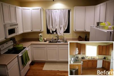 Painting Kitchen Cabinets Before After Inspirational