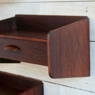 Pair Vintage Danish Rosewood Wall Shelves 1stdibs