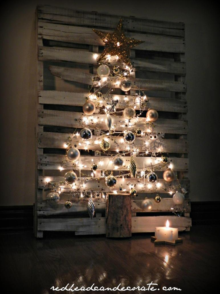 Pallet Christmas Tree Redhead Can Decorate