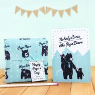 Papa Bear Father Day Diy Printable Gift Wrap Little
