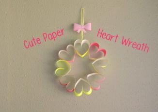 Paper Heart Wreath Tutorial