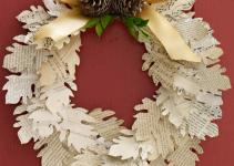 Paper Leaf Wreath Martha Stewart