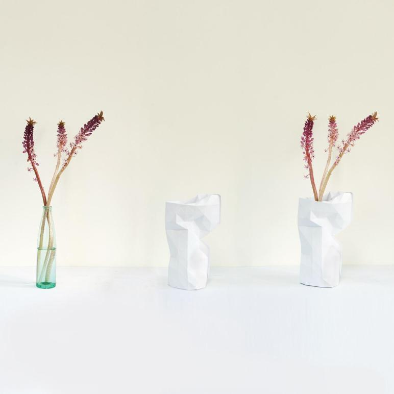 Paper Vase Cover White Pepe Heykoop Touch Modern