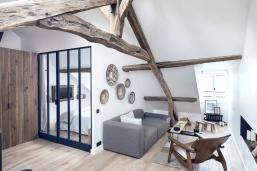 Paris Apartment Combines Rustic Charm Modern Style