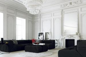 Parisian Apartment Living Large White Chandelier