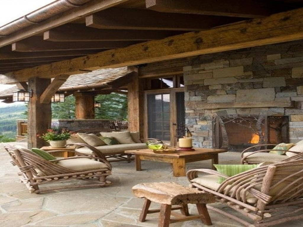 patio designs rustic outdoor covered