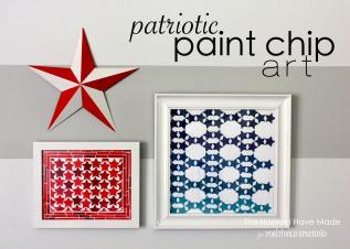 Patriotic Paint Chip Art Homes Have Made