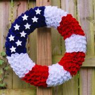 Patriotic Wreath Felt Fourth July